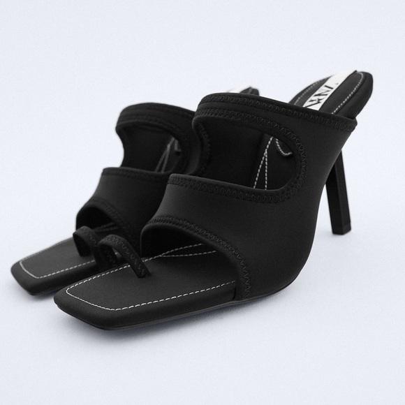 ZARA Heeled Neoprene Sandals